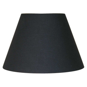 Abat-jour conique noir