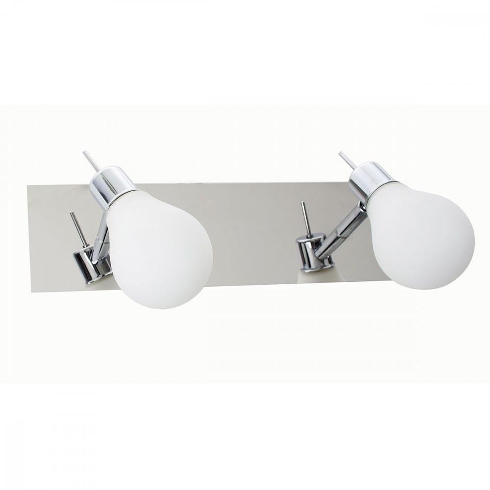 Applique salle de bain double en forme d 39 ampoule sur for Luminaire exterieur double