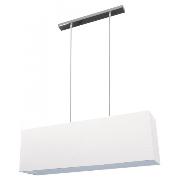 Suspension abat-jour double blanc