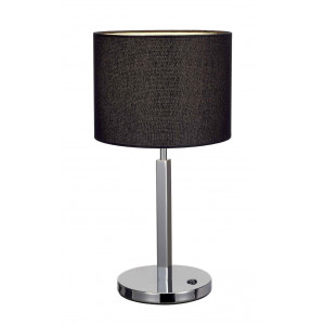 TENORA TL-1 lampe à poser chrome diffuseur noir E27 max 60W