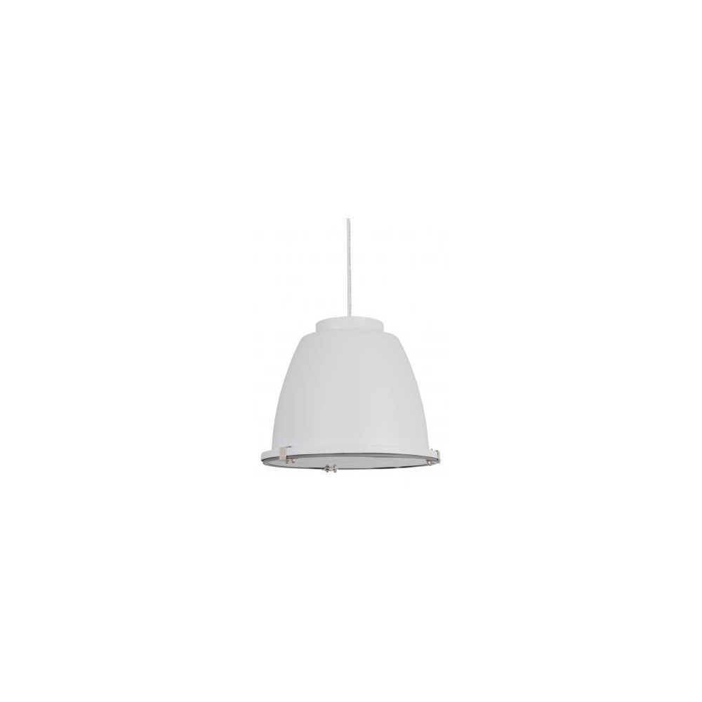 Suspension atelier design blanche for Suspension blanche design