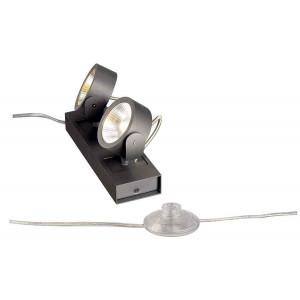 KALU FLOOR 2 LED à poser noir LED 2x10W 3000K