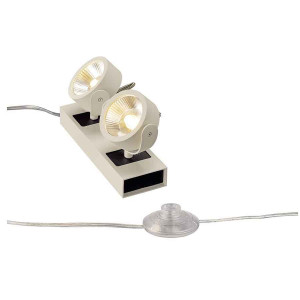 KALU FLOOR 2 LED à poser blanc et noir LED 2x10W 3000K