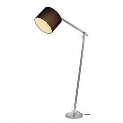 TENORA FL-1 lampadaire chrome diffuseur noir E27 max 60W