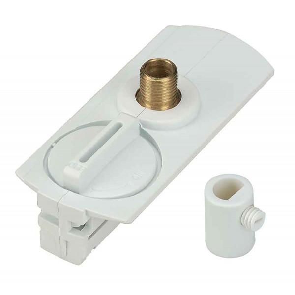 Adaptateur 1 allumage pour suspensions blanc passe-fil inclus