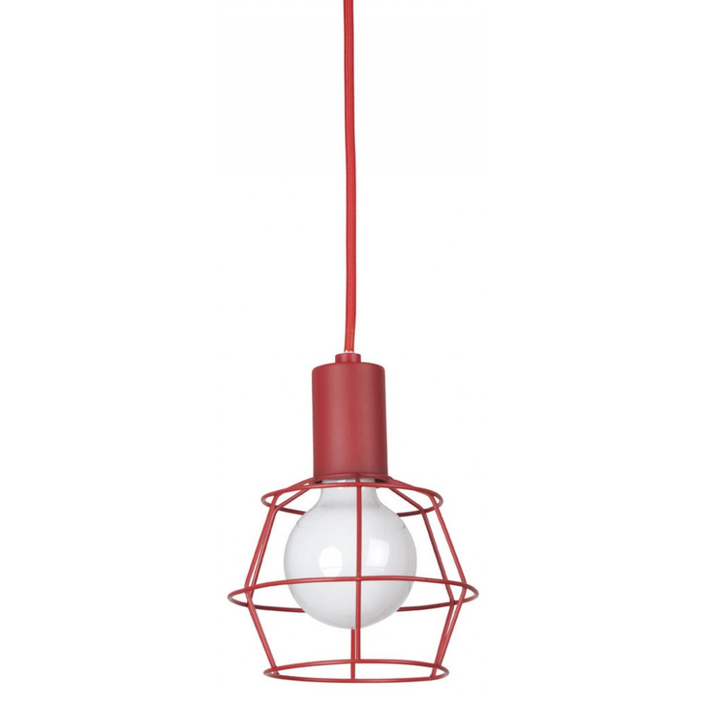 Suspension baladeuse rouge en vente sur lampe avenue for Suspension rouge