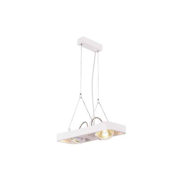 LYNAH LED double suspension blanc COB LED 2x10W 3000K