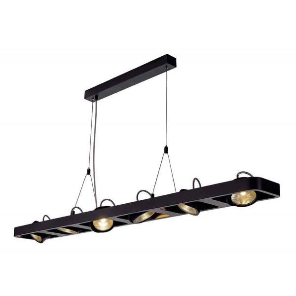 LYNAH LED hexa suspension noir COB LED 6x10W 3000K