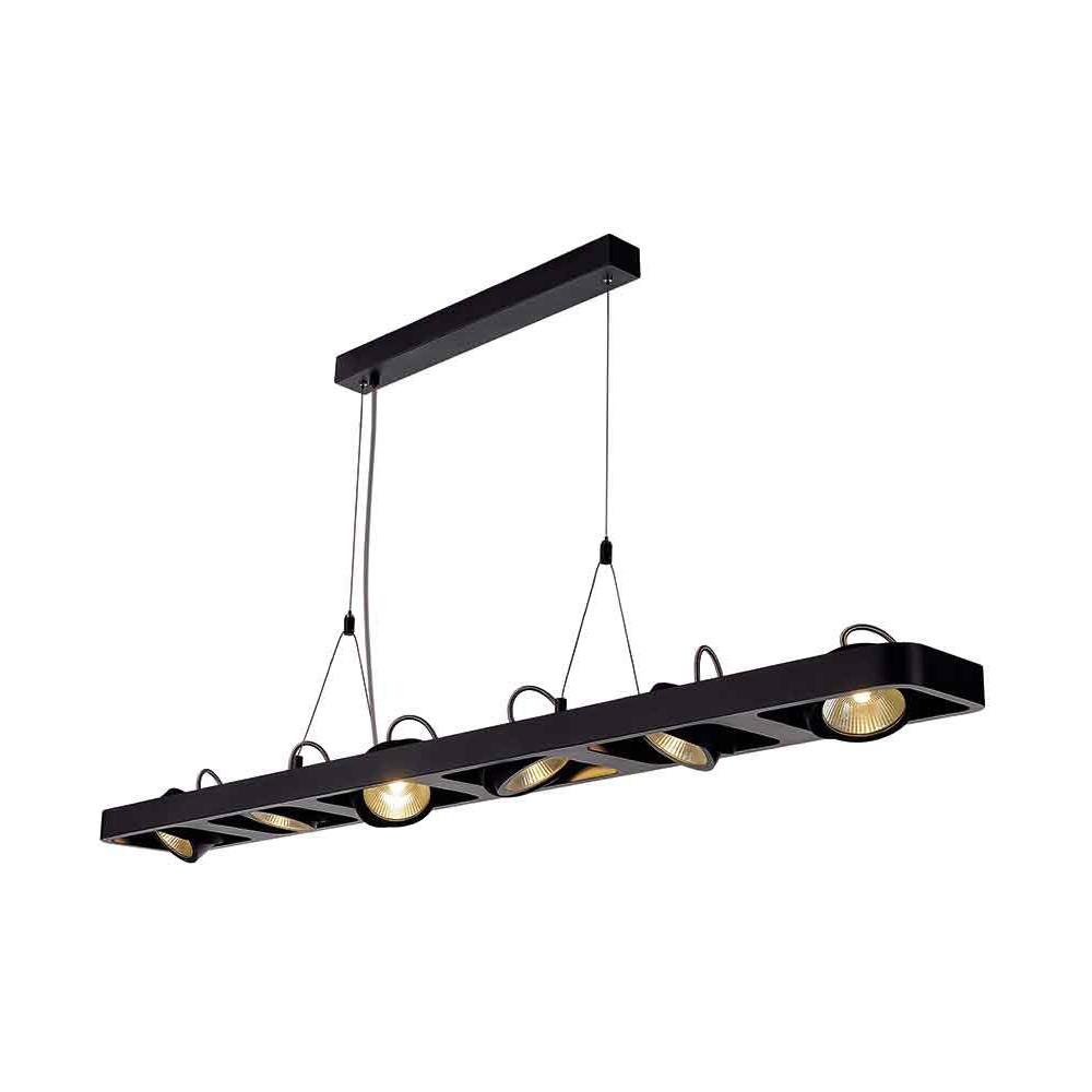 suspension aluminium noir 63 w 3960 lm. Black Bedroom Furniture Sets. Home Design Ideas