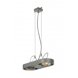 AIXLIGHT R DUO QRB111 suspension ronde gris argent QRB111 max 2x 50W