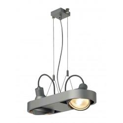 AIXLIGHT R DUO HIT suspension rond gris argent G12 2x70W sans réflecteur