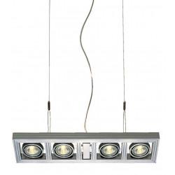 AIXLIGHT LONG GU10 suspension gris argent max 4x 50W