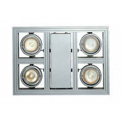AIXLIGHT SQUARE GU10 suspension gris argent max 4x 50W