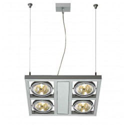 AIXLIGHT SQUARE QRB111 suspension gris argent 4x G53 max 50W