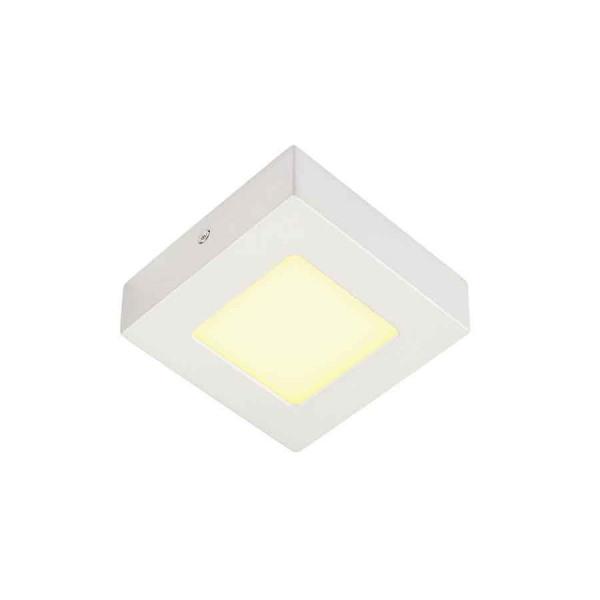 SENSER applique et plafonnier carré blanc 6W LED 3000K