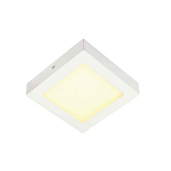 SENSER applique et plafonnier carré blanc 10W LED 3000K
