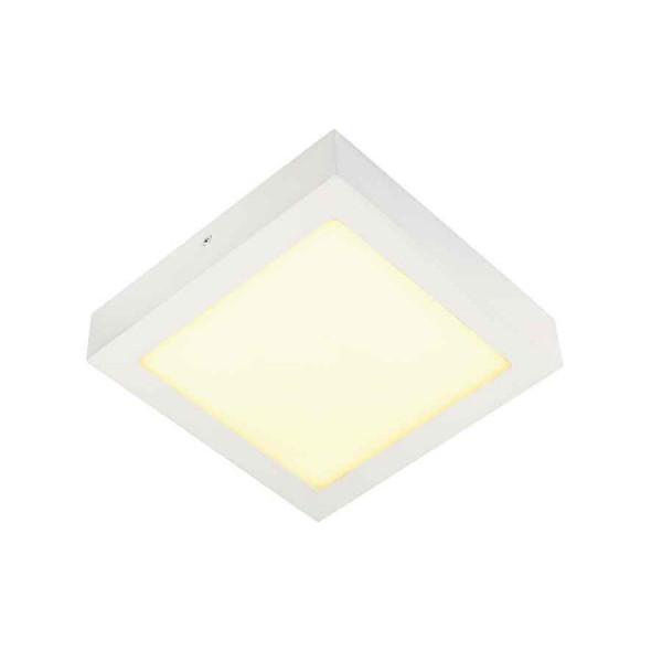 SENSER applique et plafonnier carré blanc 14W LED 3000K
