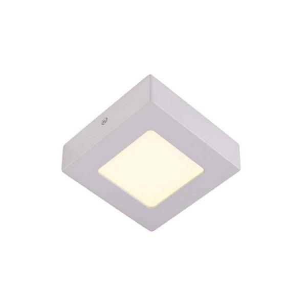 SENSER applique et plafonnier carré gris argent 6W LED 3000K