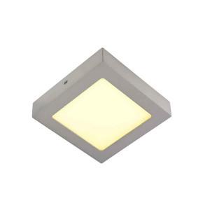 SENSER applique et plafonnier carré gris argent 10W LED 3000K