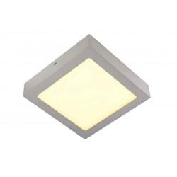 SENSER applique et plafonnier carré gris argent 14W LED 3000K