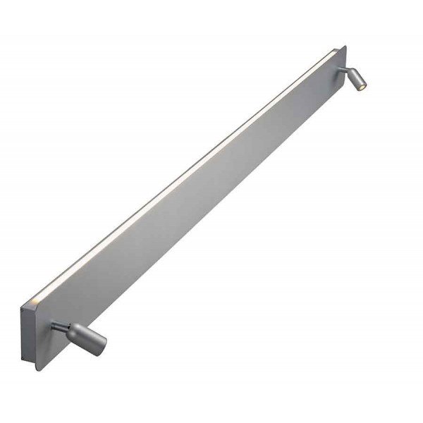 NAPIA TWIN applique alu brossé anodisé LED 166W 3000K