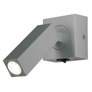 STIX applique gris argent 1x 3W LED 3000K avec interrupteur