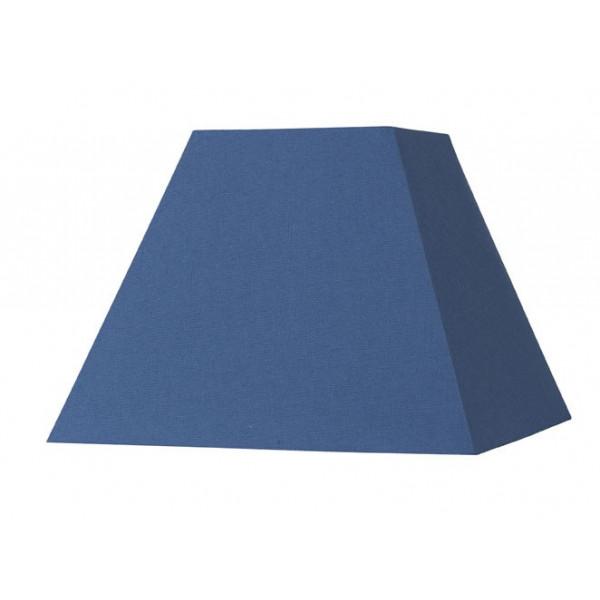Abat-jour carré pyramide bleu