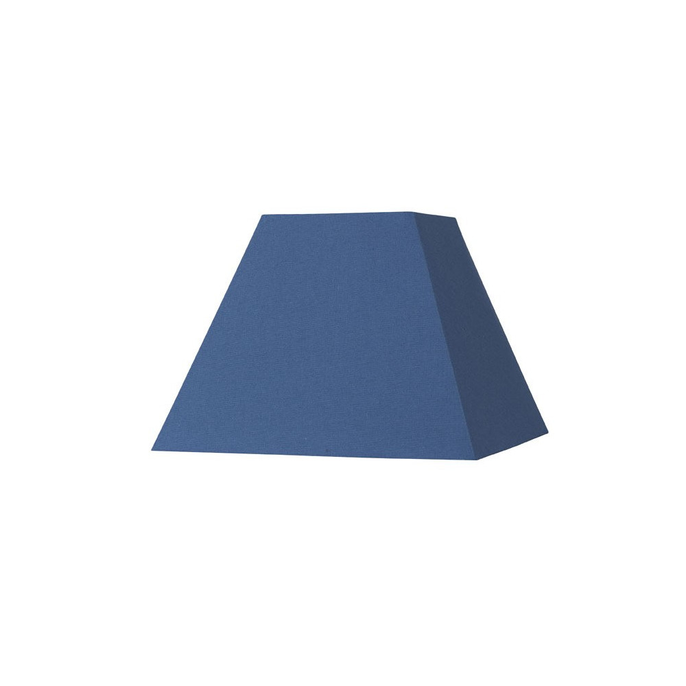 abat jour carr pyramide bleu en coton sur lampe avenue. Black Bedroom Furniture Sets. Home Design Ideas