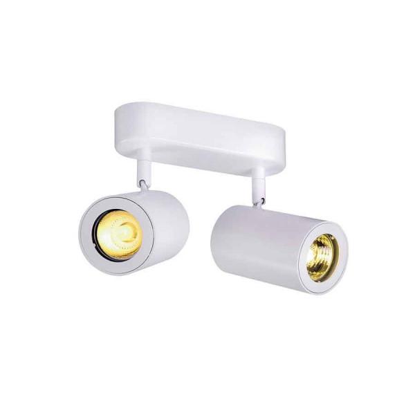 ENOLA_B 2 applique et plafonnier blanc GU10 max 2x50W