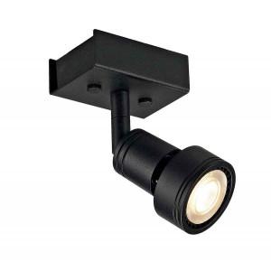 PURI 1 plafonnier noir mat GU10 max 50W anneau déco inclus