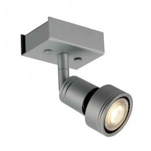 PURI 1 plafonnier gris argent GU10 max 50W anneau déco inclus