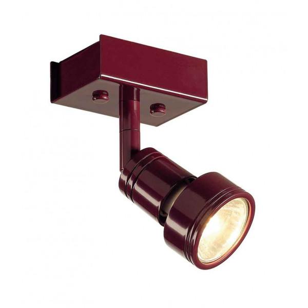 PURI 1 plafonnier bordeaux GU10 max 50W anneau déco inclus