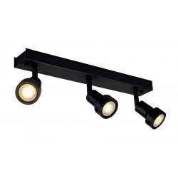 PURI 3 plafonnier noir mat GU10 max 3x50W anneau déco inclus