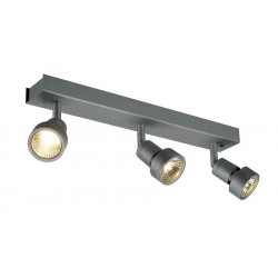 PURI 3 plafonnier gris argent GU10 max 3x50W anneau déco inclus