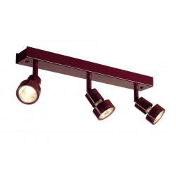 PURI 3 plafonnier bordeaux GU10 max 3x50W anneau déco inclus