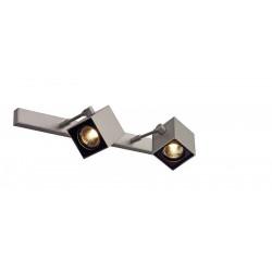 ALTRA DICE 2 plafonnier gris argent et noir 2x GU10 max 2x 50W