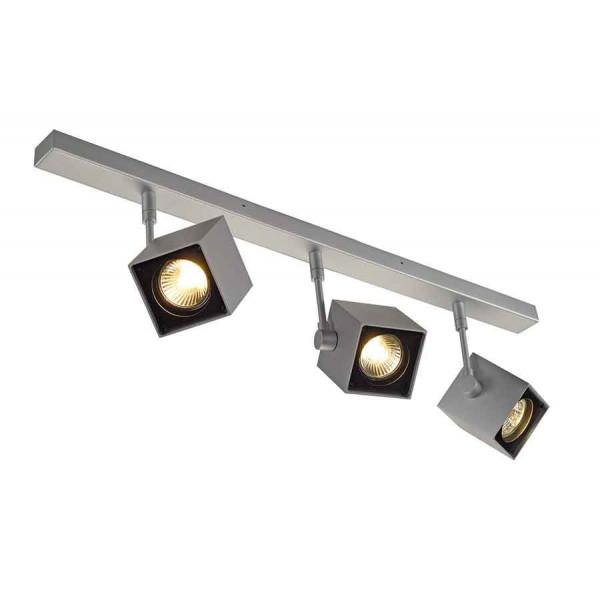 ALTRA DICE 3 plafonnier gris argent et noir 3x GU10 max 3x50W