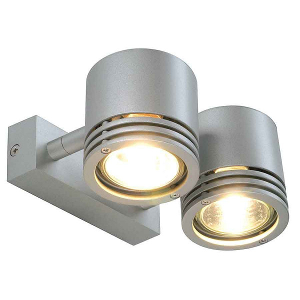 BARRO 2 applique ronde gris argent 2x GU10 max 50W