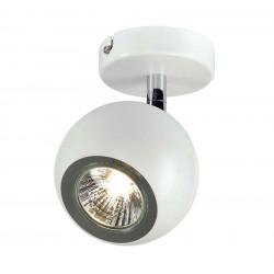 LIGHT EYE 1 GU10 applique et plafonnier blanc et chrome GU10 max 50W