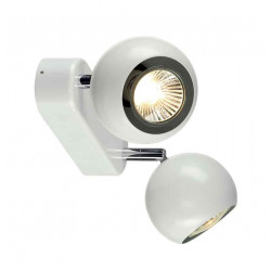 LIGHT EYE 2 GU10 applique et plafonnier blanc et chrome 2x GU10 max 2x50W