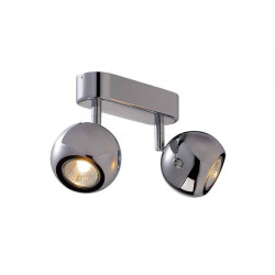 LIGHT EYE 2 GU10 applique et plafonnier chrome 2x GU10 max 2x50W