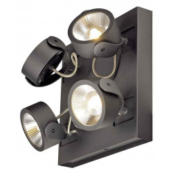 KALU 4 LED SQUARE applique et plafonnier noir LED 4x10W 3000K