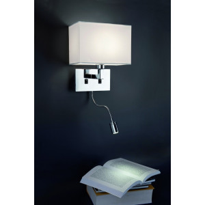 Applique avec liseuse LED