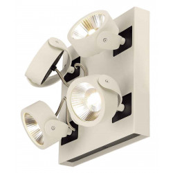 KALU 4 LED SQUARE applique et plafonnier blanc et noir LED 4x10W 3000K