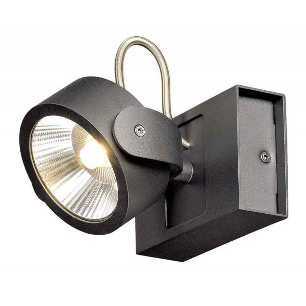 KALU 1 LED applique et plafonnier noir LED 10W 3000K