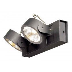 KALU 2 LED applique et plafonnier noir LED 2x10W 3000K