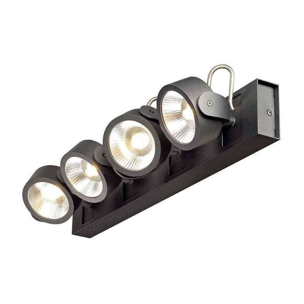 rampe design 4 spots led orientables noirs. Black Bedroom Furniture Sets. Home Design Ideas