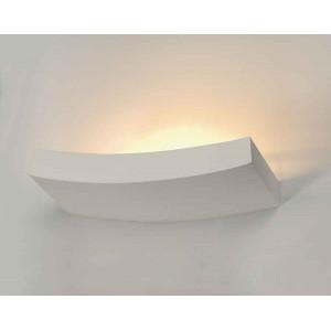 GL 102 CURVE applique plâtre blanc R7s 78mm max 100W