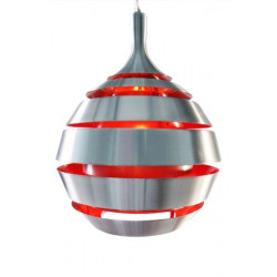 Suspension design aluminium et rouge