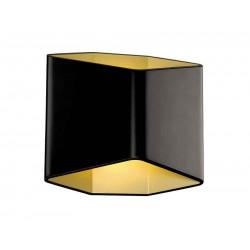CARISO 2 applique noir et laiton LED 2x75W 3000K
